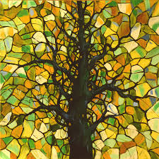 tree painting original abstract tree landscape painting stained glass tree 3