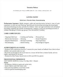 Nanny Resumes Resume Templates For Experienced Professionals With