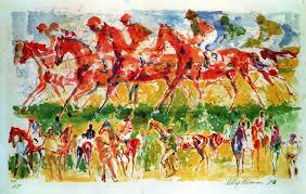 dealer or reer listed leroy neiman art horse racingleroy