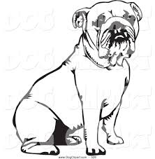bulldog clipart black and white. Perfect White Bulldog Clipart Black And White  Panda  Free Images Intended L