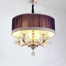 modern drum chandelier mid century