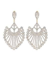 18k gold plated chandelier drop earrings with swarovski crystals