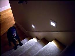 motion sensor led stair lights step lighting turned on odd house image with excellent indoor stairway