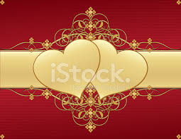 hearts and swirls background design in
