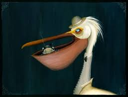 on pelican canvas wall art with fingers the pelican and jimmy the fish by miss f