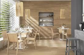 wood tiles laid horizontally on walls