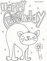 Pet Birthday Coloring Pages Doodle Art Alley