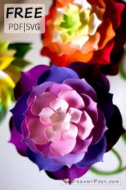 Please refer to dreamyposy.com to get all of these free files. Flower Templates Free Pdf Svg Png Files Super Easy Tutorial