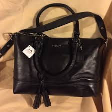 NWT coach legacy leather black Molly satchel 21132