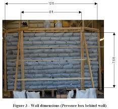 wind testing of earthbag wall