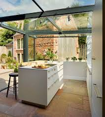 view in gallery sliding glass doors open up the kitchen to the garden