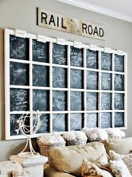 giant window frame chalkboard wall decor