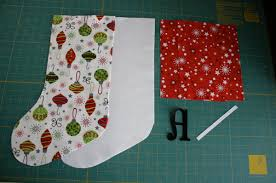 Christmas Stocking Sewing Pattern Simple Christmas Stockings Tutorial Sew Like My Mom