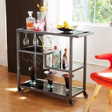 Image of: Rolling Wine Bar Cart