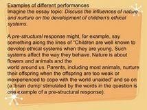 nature vs nurture thesis english for writing research papers example research essay topic nature vs nurture