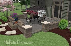 square patio designs. DIY-Square-Brick-Patio-Design-with-Fire-Pit- Square Patio Designs L