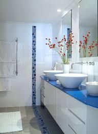 Bathroom : Blue Countertop Vanity Idea In Modern Bathroom With Big ...