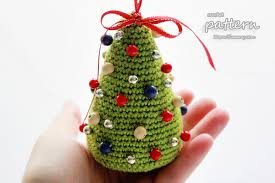 Crochet Christmas Tree Pattern Delectable Little Colorful Christmas Trees Pattern No 48 Zoom Yummy