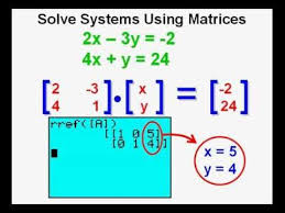 using matrices to solve systems of