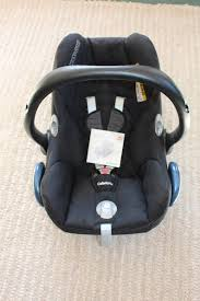 maxi cosi cabriofix group 0 baby car seat black with infant insert and