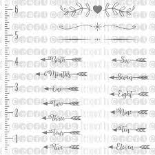 Growth Chart Svg Wall Ruler Cut File Baby Ruler Nursery Room Svg Diy Growth Chart Bundle Silhouette Cut Files Cricut Cut Files