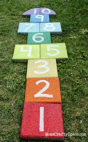 easy diy rainbow paver hopscotch