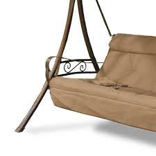 Hampton Bay Charm Patio Swing 3 Person Replacement Seat Cushion