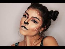 easy deer makeup tutorial 2016 first makeup look of 2016 i don t usually do looks because i m not a horror kind of person i