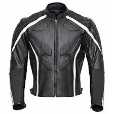 excalibur mens race leather motorcycle jacket