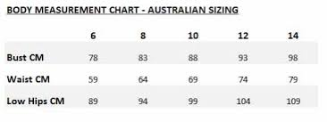 Alice Mccall Size Chart Size Guide Alice Mccall