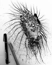 зловещие чёрно белые татуировки от Jeanchoir 8 фото