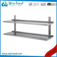 stainless steel kitchen adjule floating wall shelf with backsplash