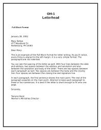 Example Of Block Format Letter - Milviamaglione.com