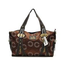 Coach Logo In Monogram Medium Coffee Totes DNQ
