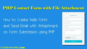 Submit Form Send Email With Attachment On Form Submission Using Php