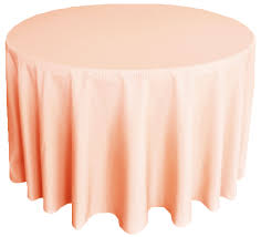 90 round polyester tablecloths peach apricot 53131 1pc pk