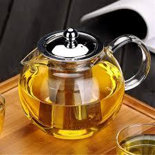 Designer Glass Teapot Glass Teapot With Removable Infuser Obor Stovetop Safe Kettle Blooming And Loose Leaf Tea Maker Set 650ml 22oz