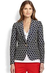 Patterned Blazer Womens