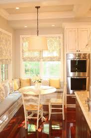 Kitchen Banquet Built In Seating Around Table traditional-kitchen