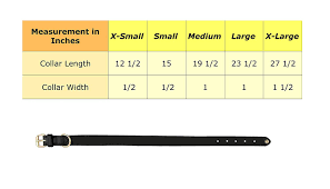 Collar Size Chart Halo Christmas Tree Leather Dog Collar