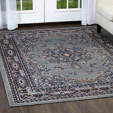 persian silver area rug 9 x 12 large oriental carpet 69 actual 9 2