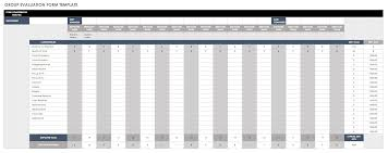 Evaluation Form Template Free Employee Performance Review Templates Smartsheet