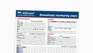 Anaesthetic Monitoring Chart Resources Alfaxan Anaesthetic Injection