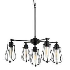 Black rustic chandelier Light Black Cloote 5light Black Metal Shade Chandelier Home Depot No Additional Accessories Black Rustic Chandeliers Lighting