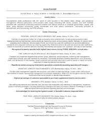 Jewelry Sales Manager Resume Sample | Dadaji.us