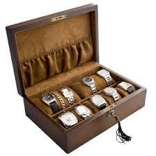 vintage wood watch box storage case for 10 watches mens vintage wood watch storage case