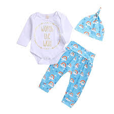 Newborn Baby Clothes Size Chart Amazon Com Newborn Baby Clothes Outfits Set Girl Boy Letter