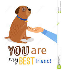 Human Hand Holding Dogs Paw Stock Vector Illustration Of