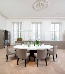 Edinburgh Round Back Dining Room Contemporary With Open Plan