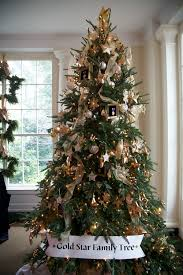 white-christmas-tree-decorations-with-gold ...